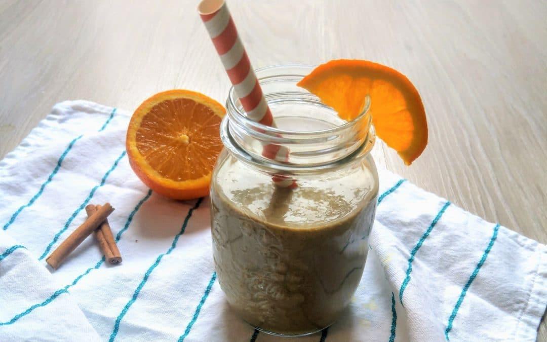 Sinaasappel-speculaas smoothie recept